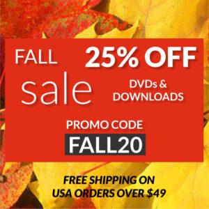 fall sale 25% off, use promo code fall20