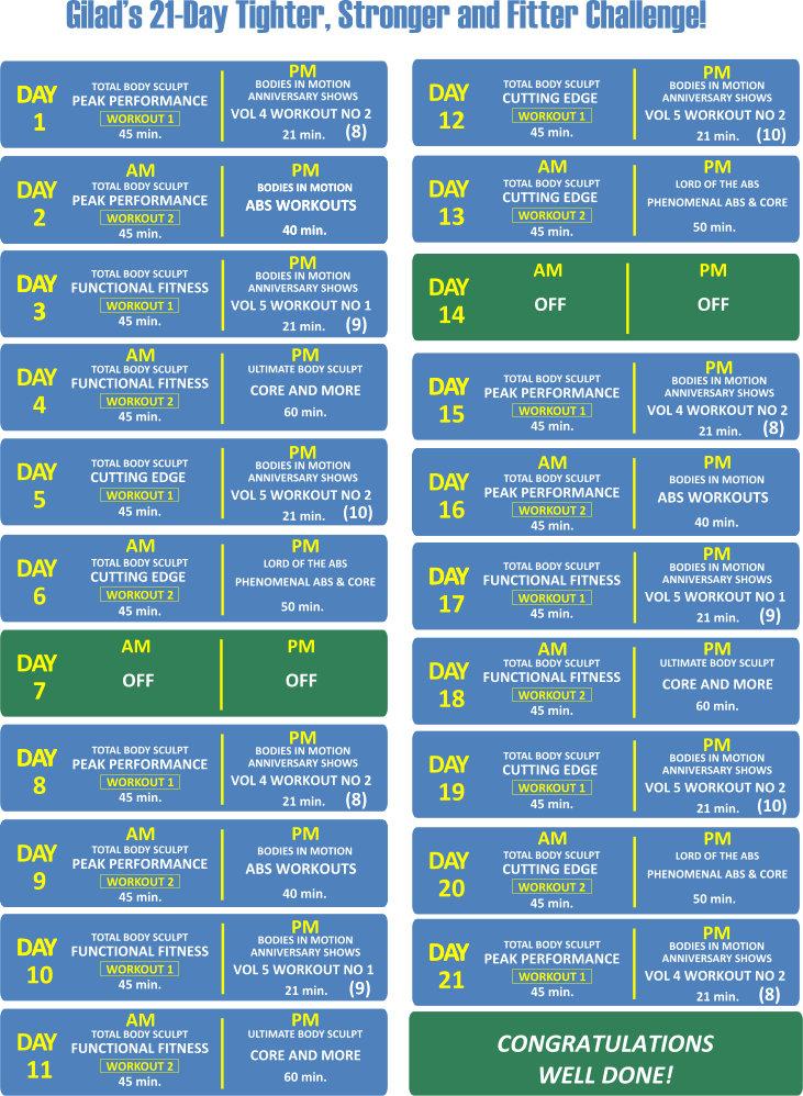 Challenge no 12 schedule